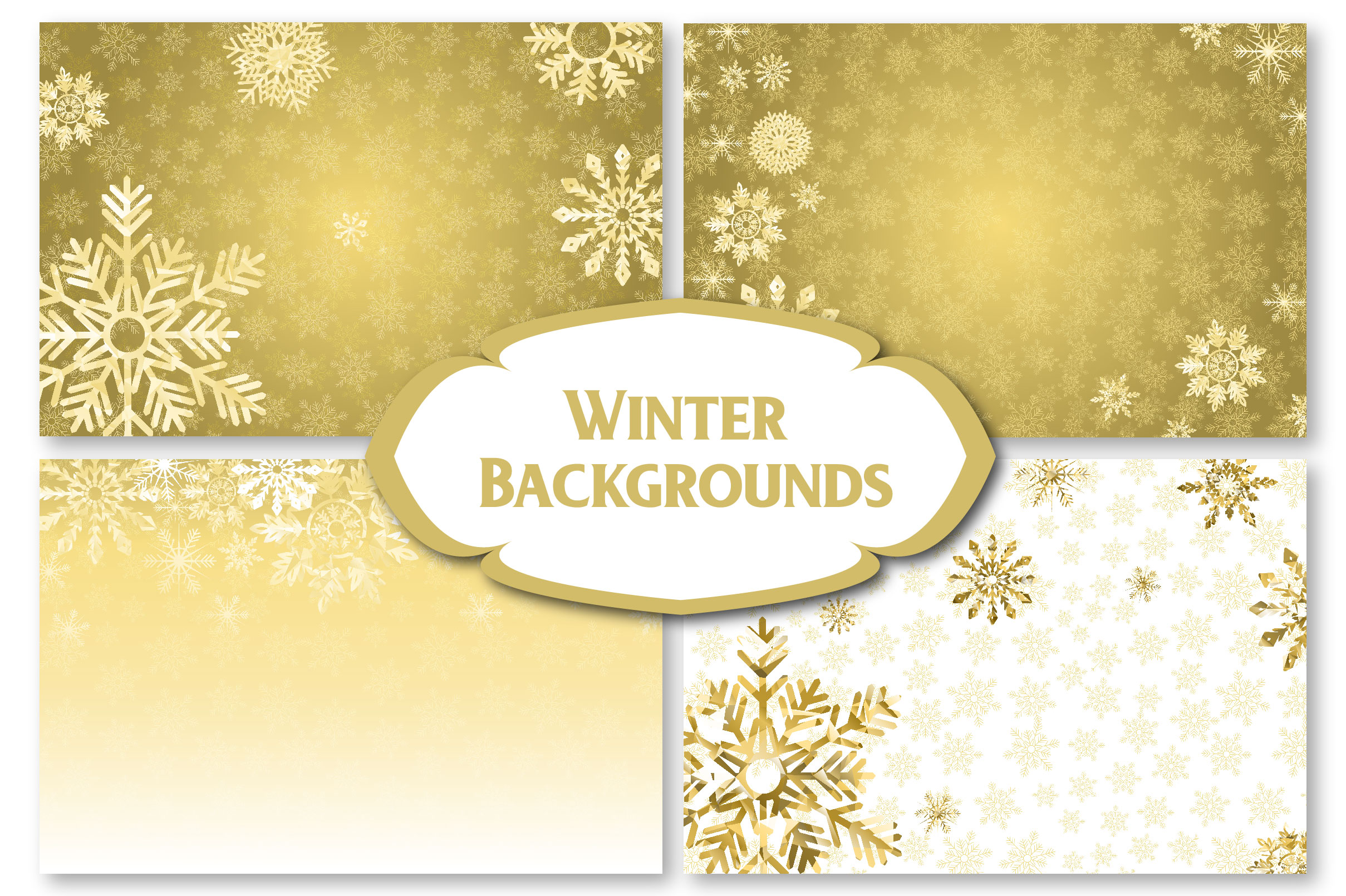 Winter Golden Backgrounds example image 4
