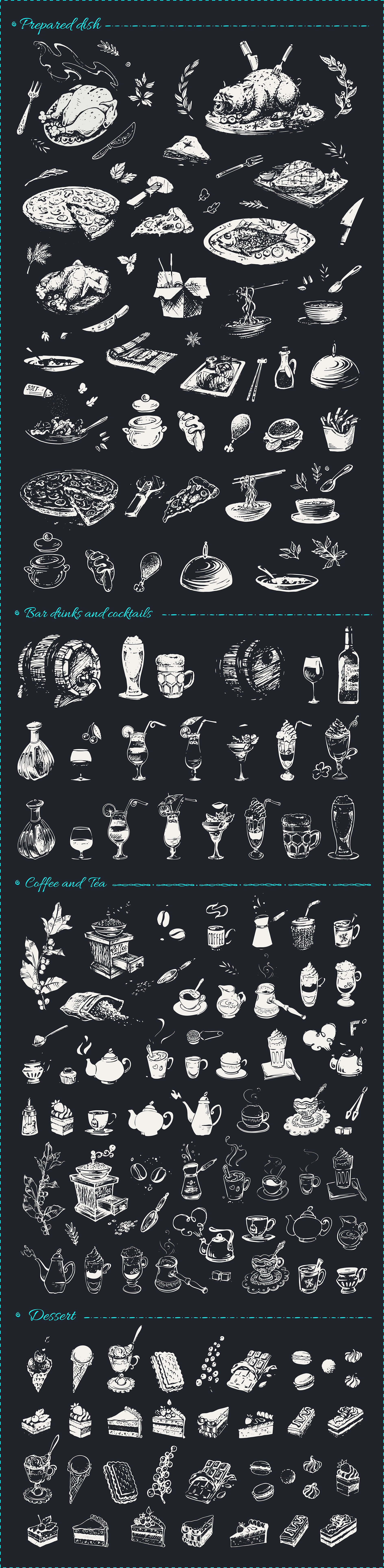 Hand drawn cooking and food icons example image 7