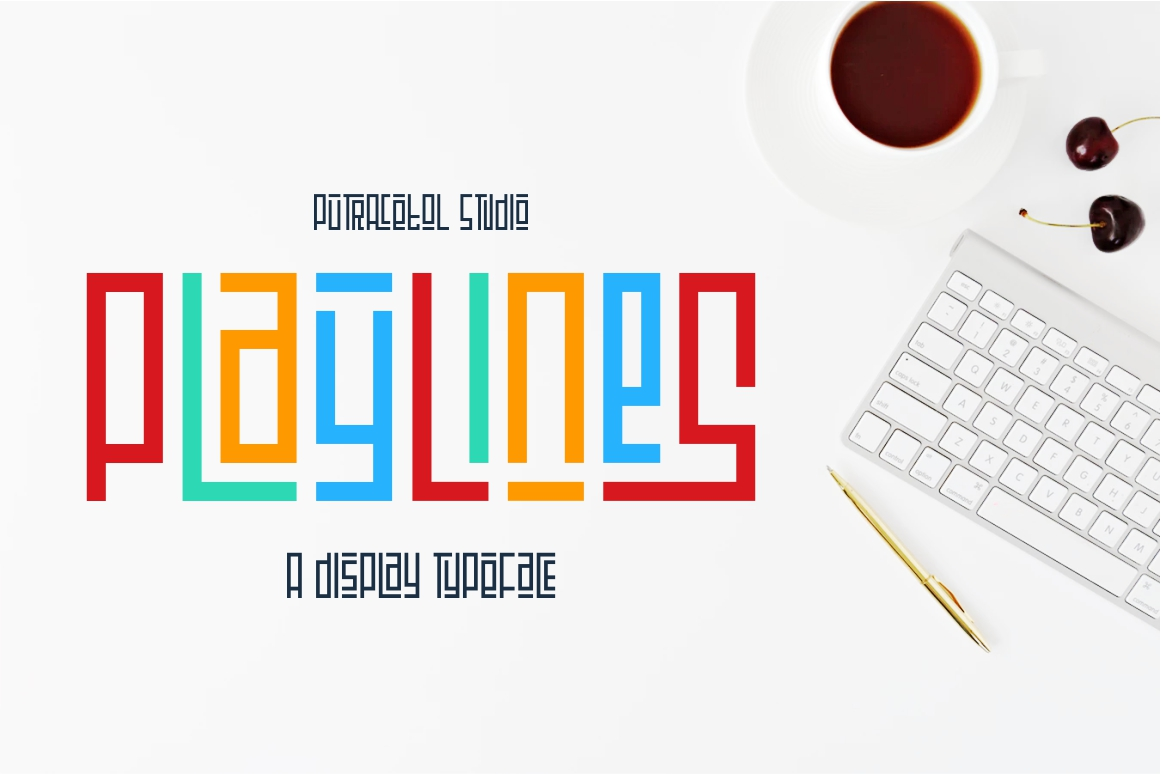 Playlines - Display Typeface example image 1