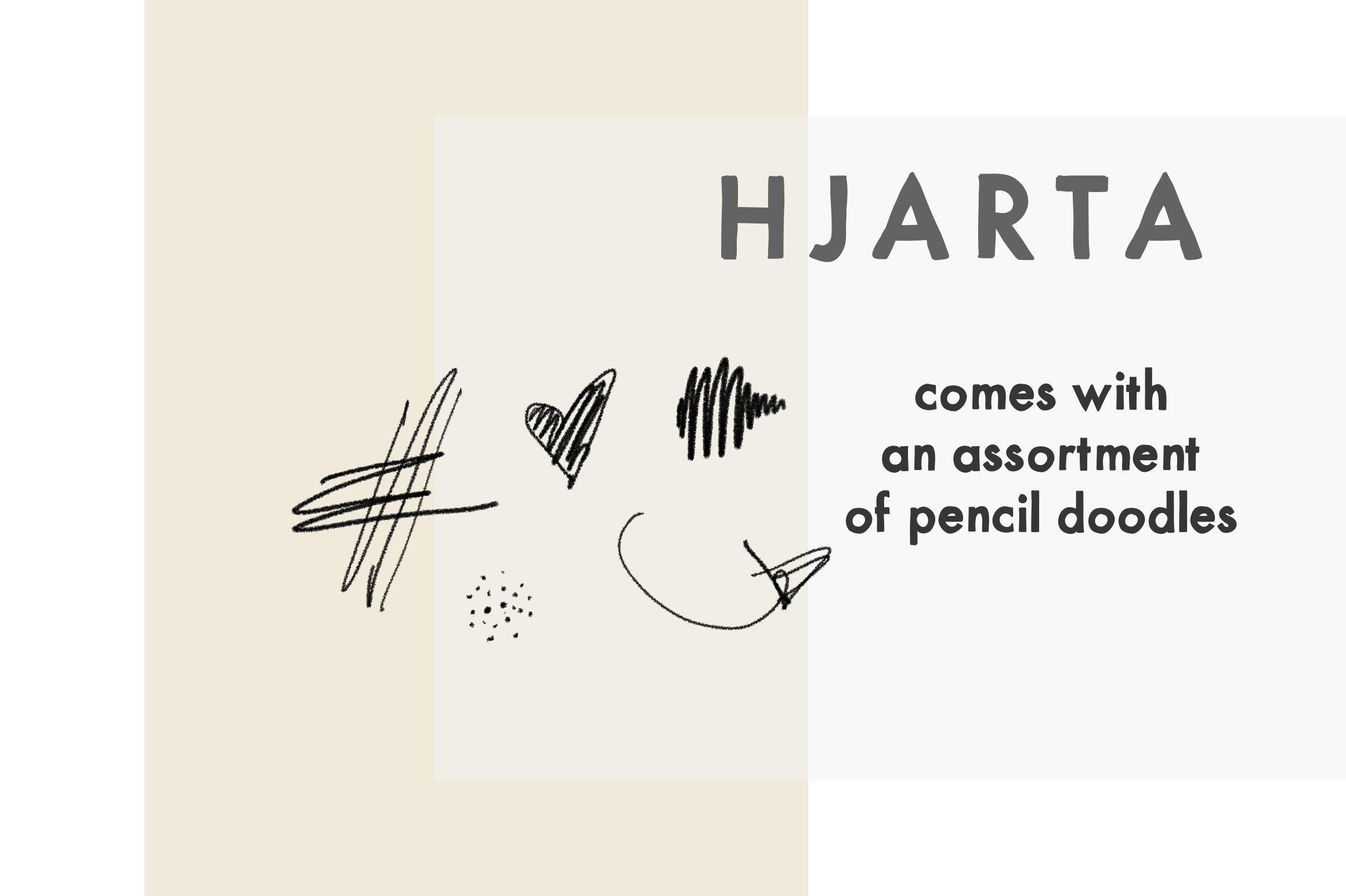 Hjarta - A Pencil Drawn Font Trio example image 6