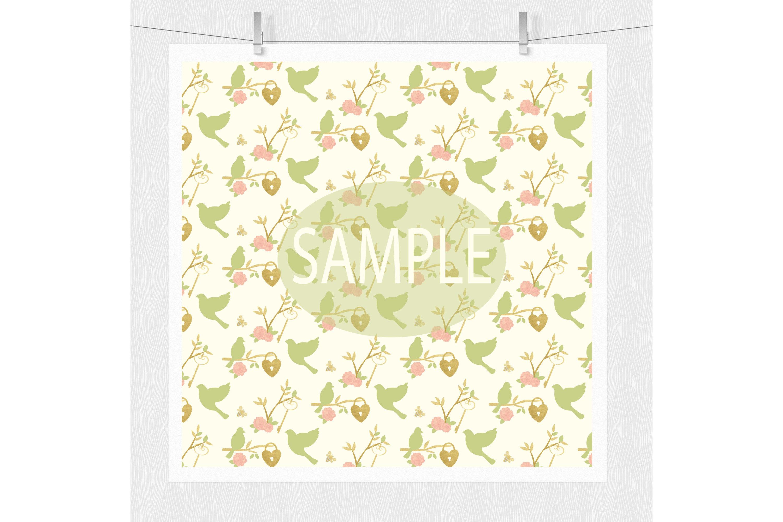 Gold Floral Digital Patterns - Digital Scrapbook Paper example image 5