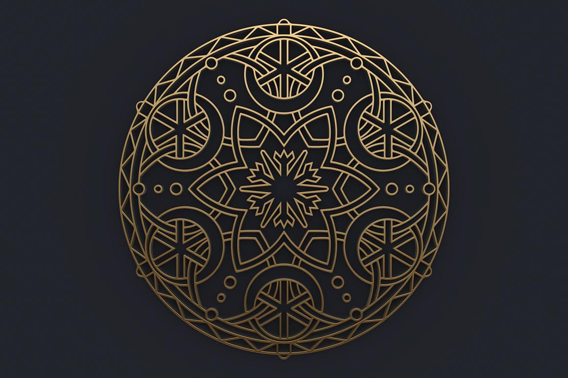 100 Christmas Mandala Ornaments example image 16