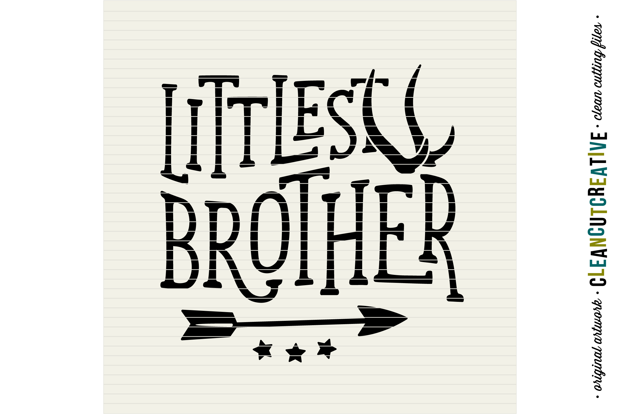 LITTLEST BROTHER cutfile design withantlers and arrow - SVG DXF EPS PNG - cut file cutting file clipart - Cricut and Silhouette - clean cutting files example image 2