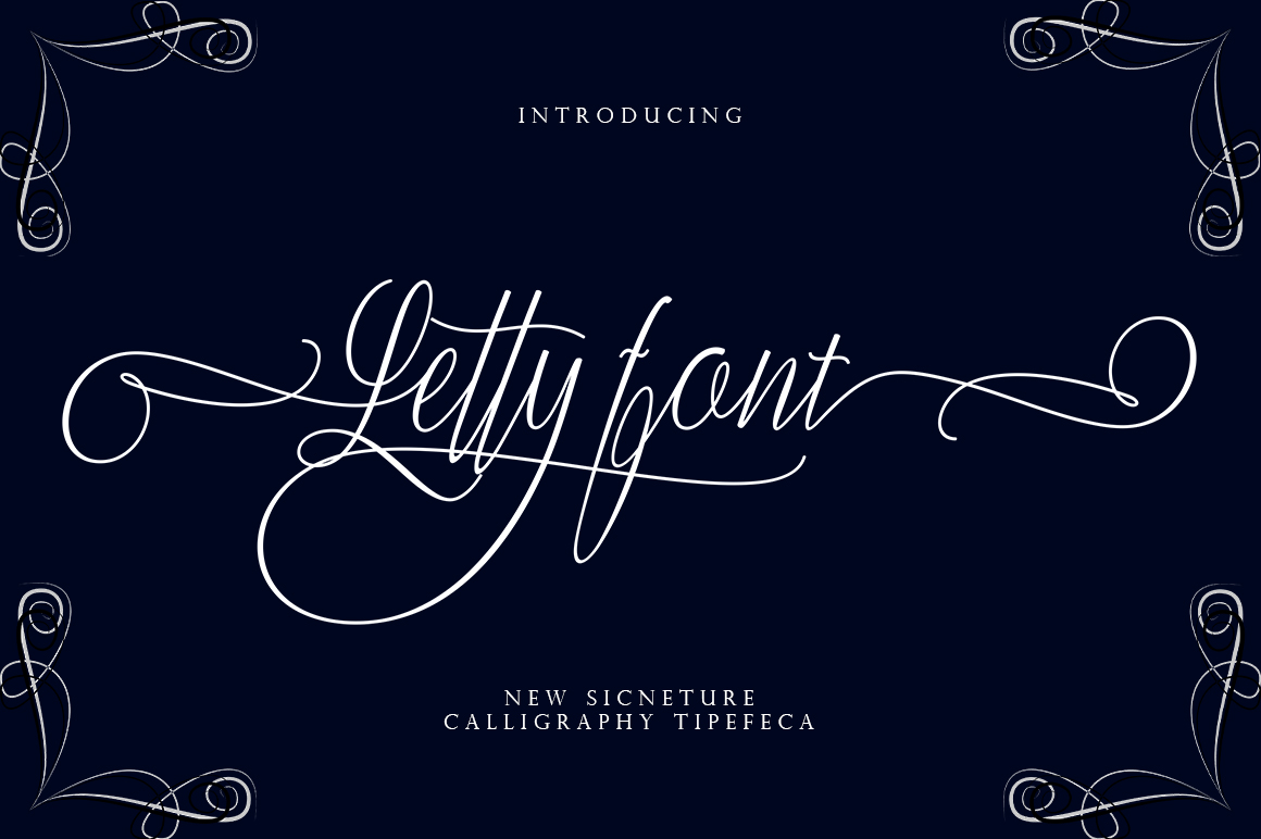 Letty font example image 1