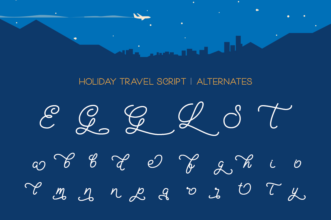 Holiday Travel Font Duo example image 8