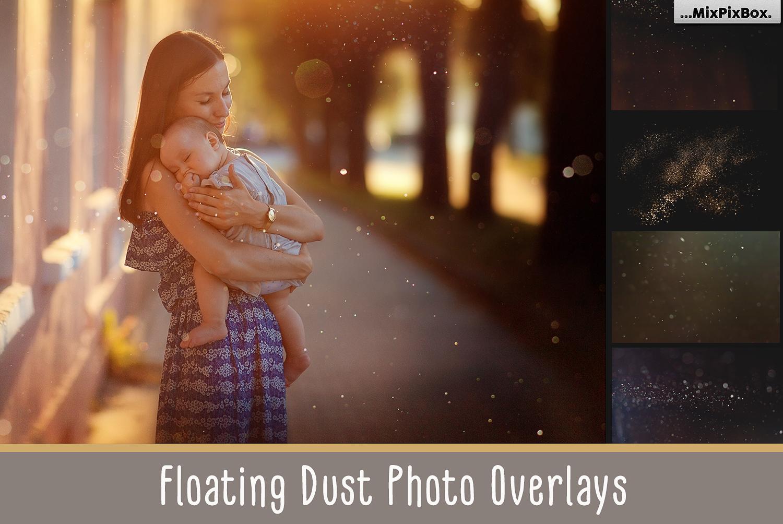 75 Floating Dust Photo Overlays example image 1
