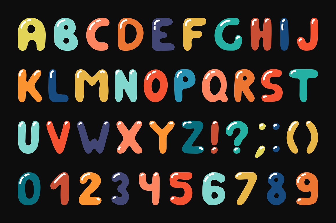Colorful alphabet in doodle style example image 4