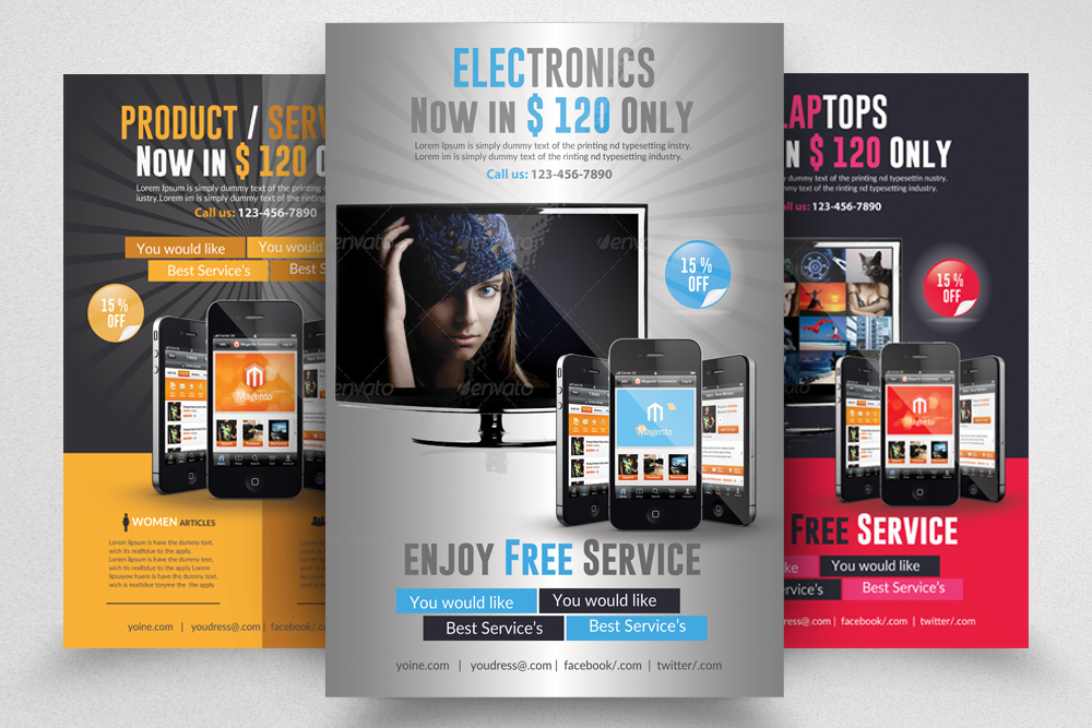 6 Products Promotion Flyers Bundles example image 6
