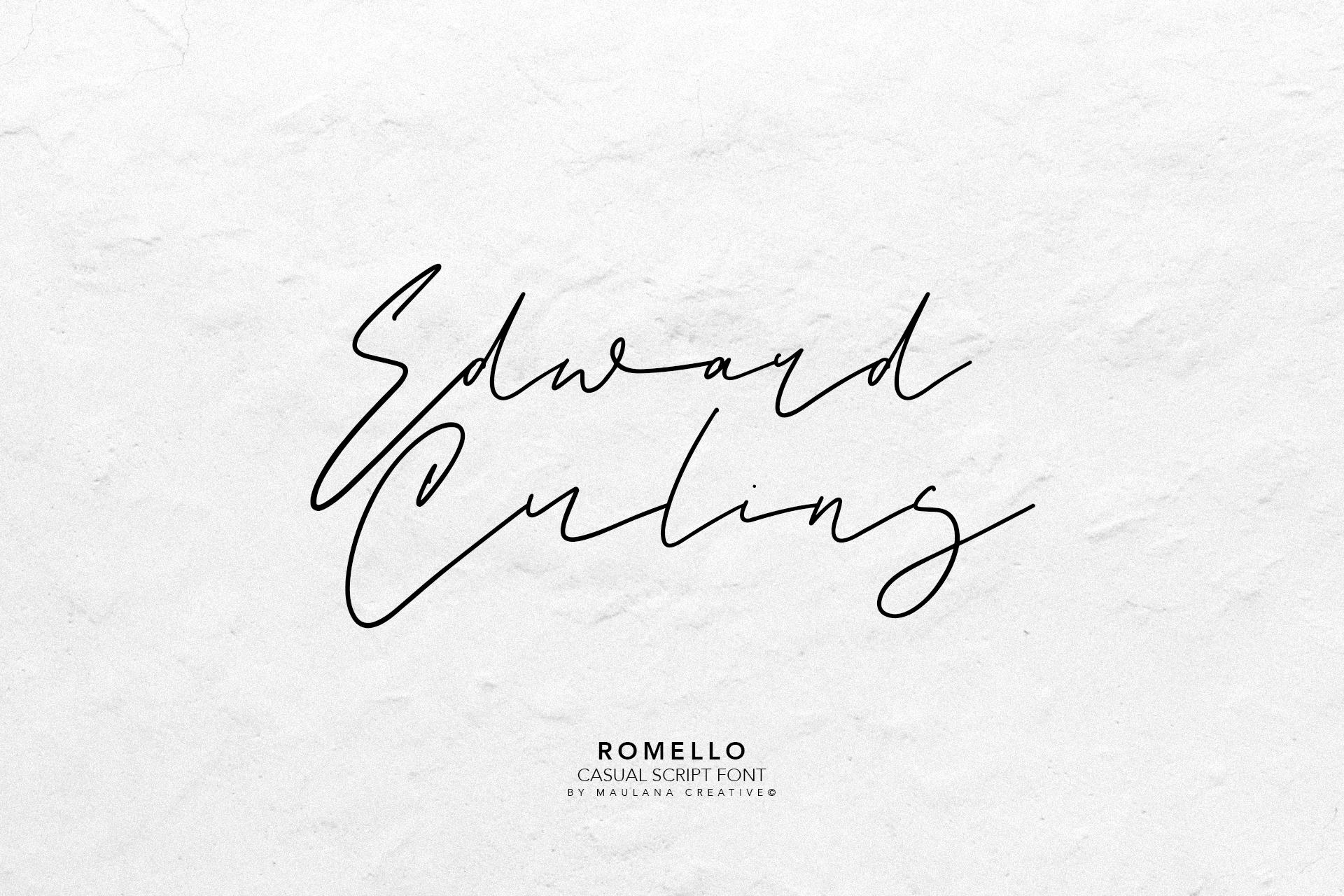 Romello Brush Signature Font example image 9