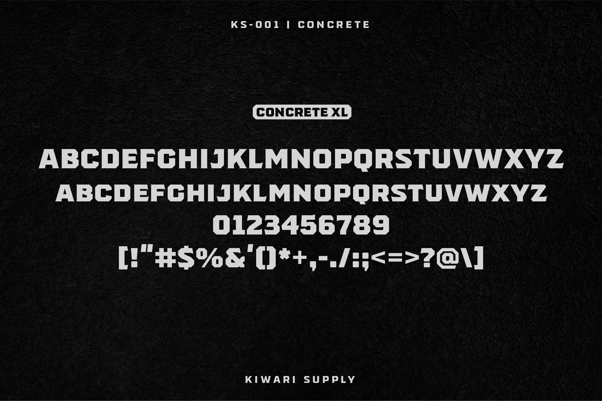 Concrete Display Font Family example image 6