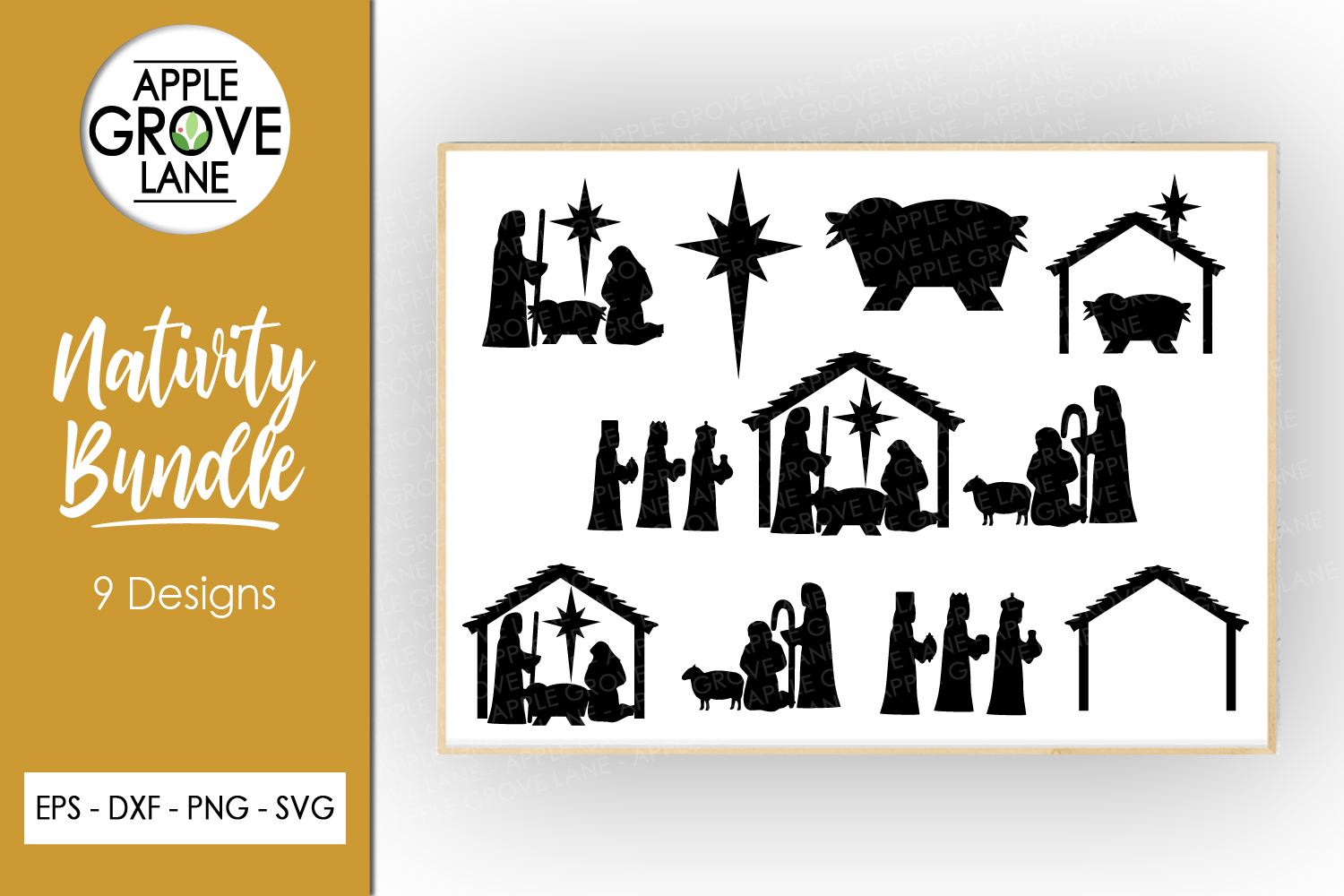 Nativity Svg Bundle - 9 designs included - Svg Cut Files example image 1