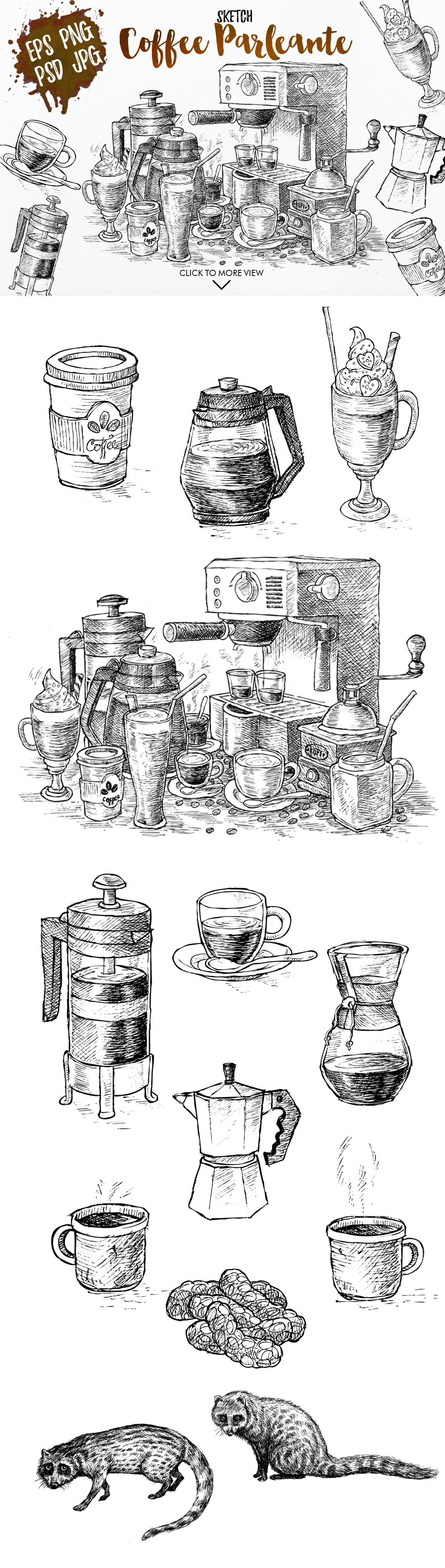 Watercolor Coffee Black Parleante example image 2