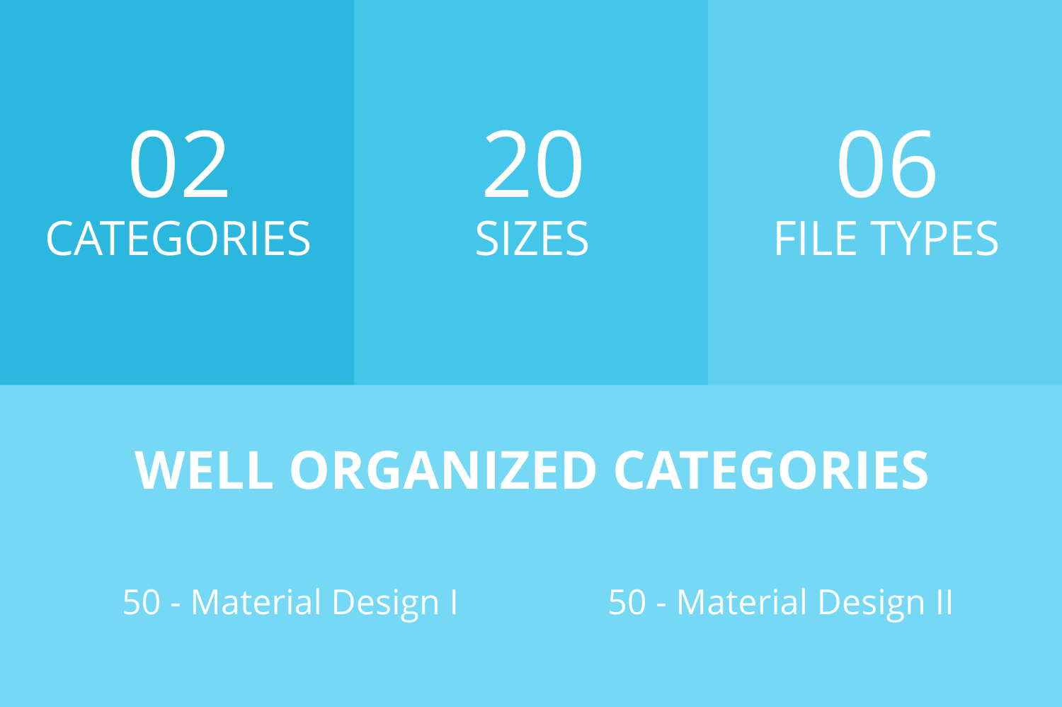 100 Material Design Filled Low Poly Icons example image 3