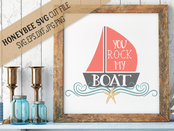 Your Rock My Boat cut file example image 1