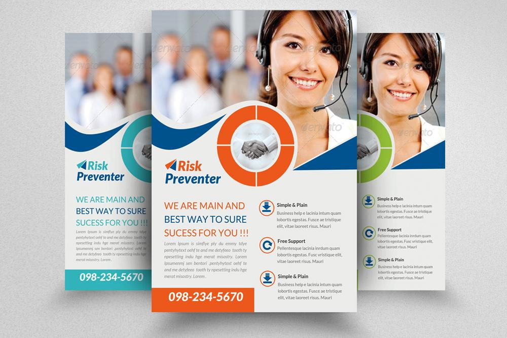 6 Corporate Business Flyers Bundle example image 2