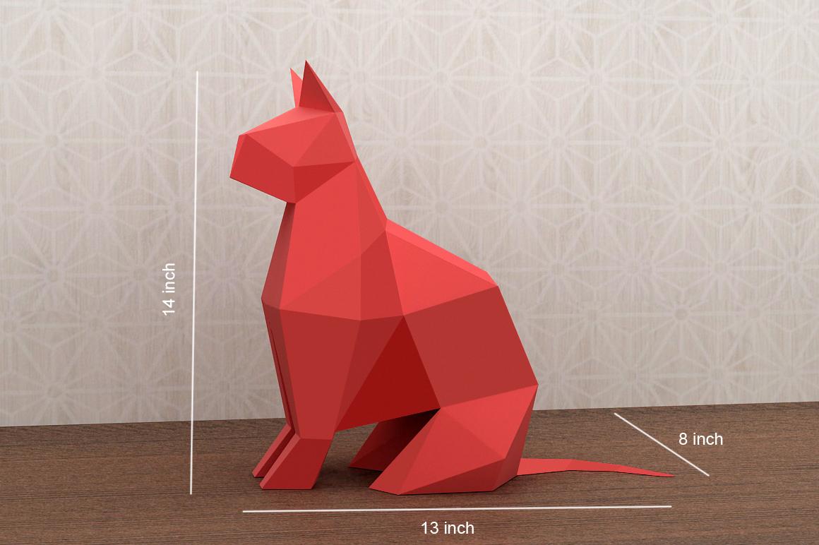 DIY Paper cat - 3d papercraft example image 4