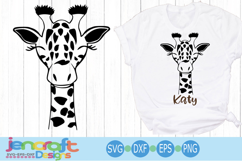 Baby Giraffe Face svg, Cute Fun Safari Giraffe head cut file example image 1