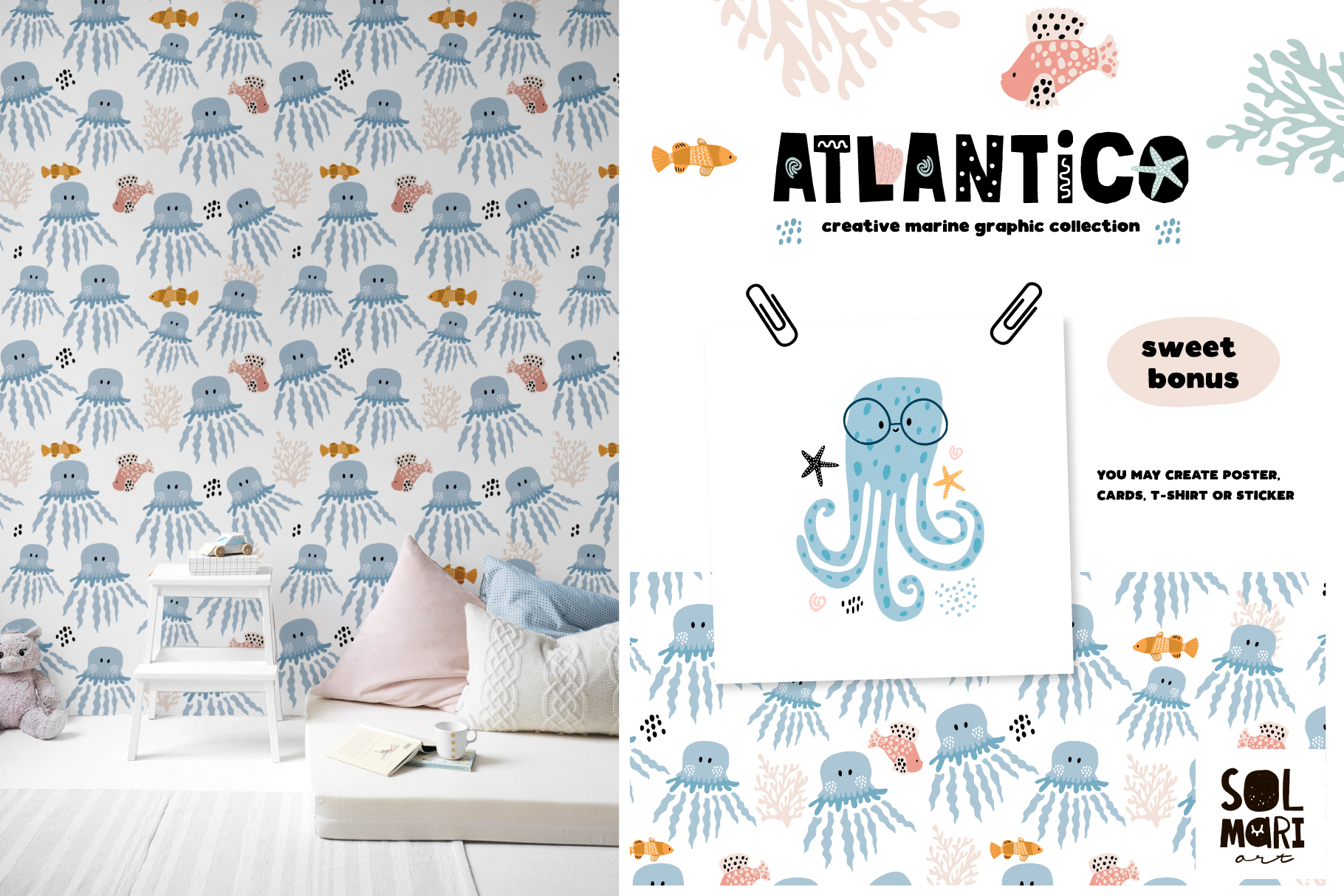 ATLANTICO. Marine graphic collection example image 8