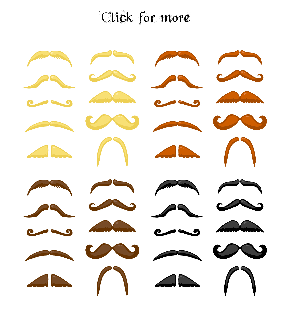 Hand drawn Beards and mustaches example image 4