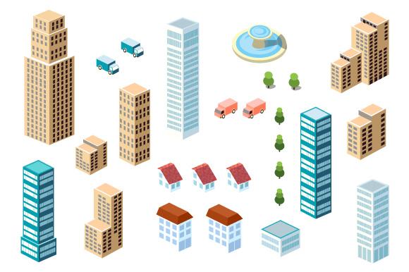 Flat City vector Set example image 3