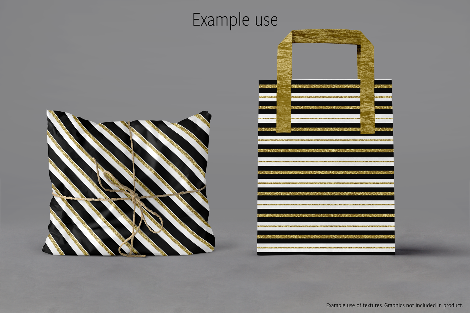 Black White and Gold Textures example image 4