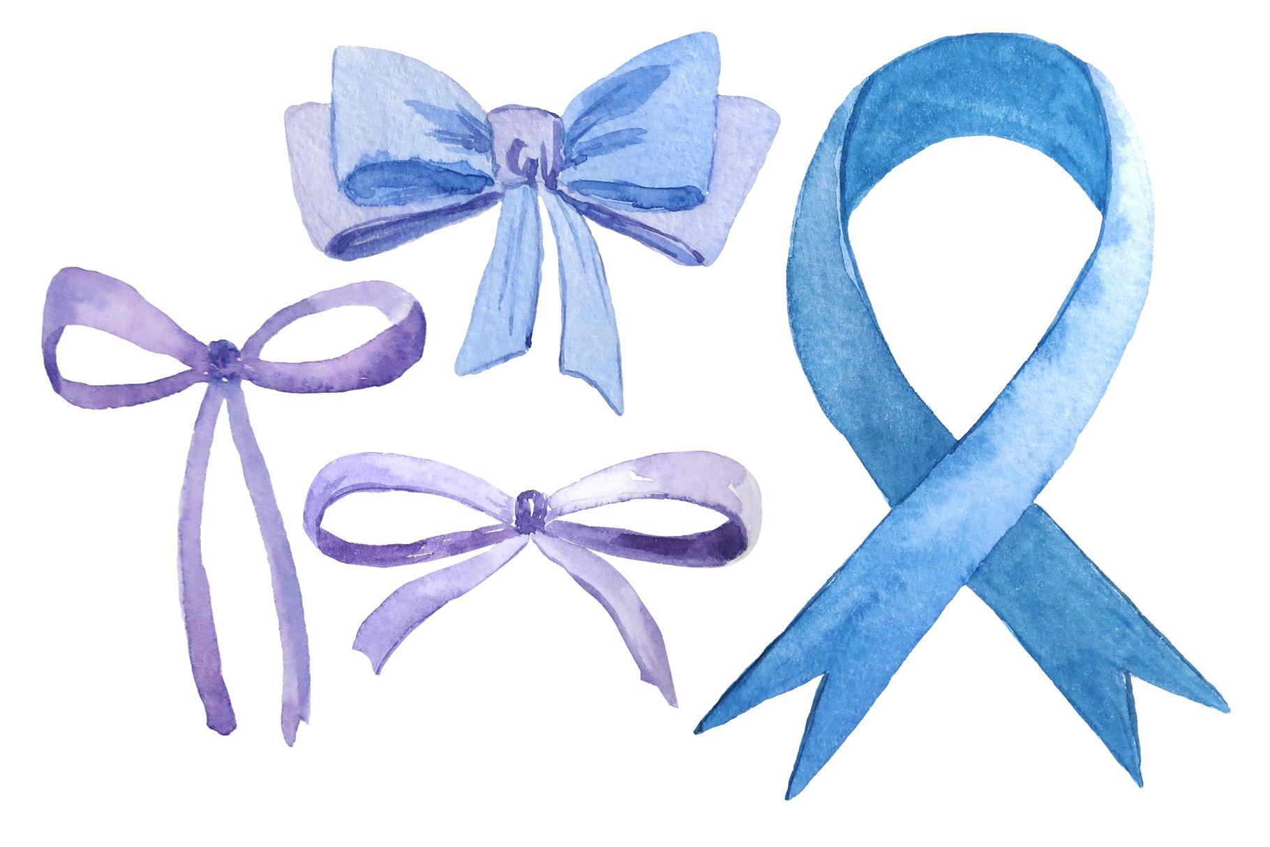 Ribbons and bows watercolor example image 3
