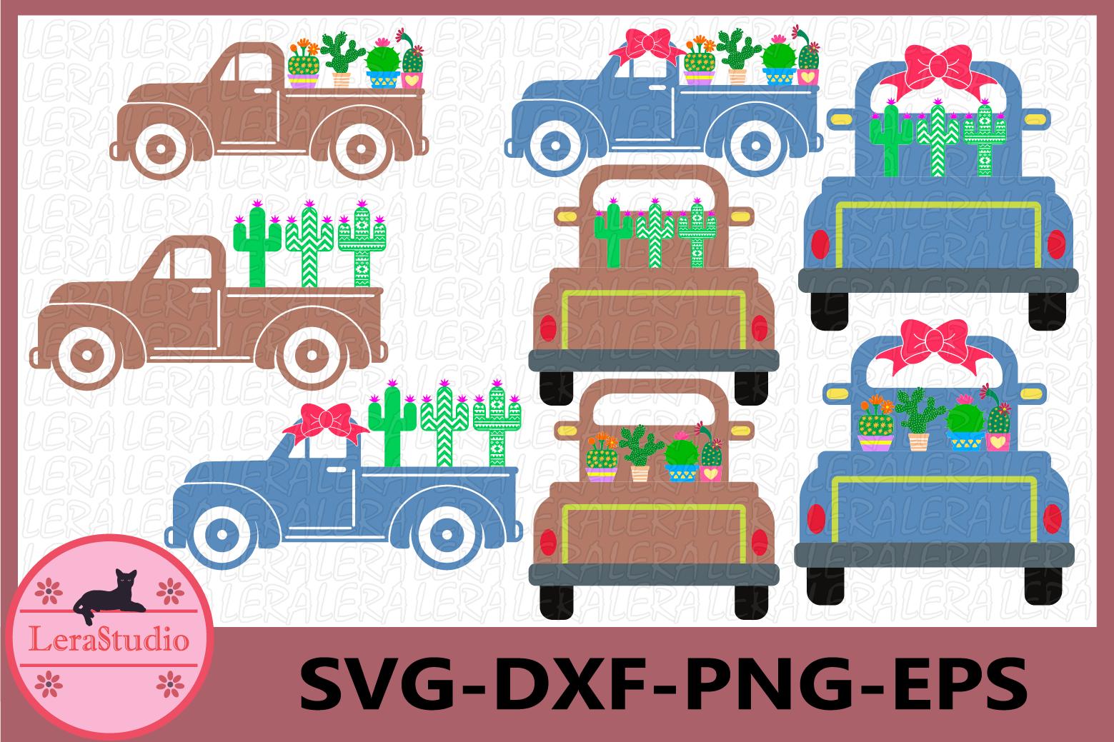 Cactus SVG, Truck Svg, Truck Cactus svg, Aztec Cactus Svg example image 1