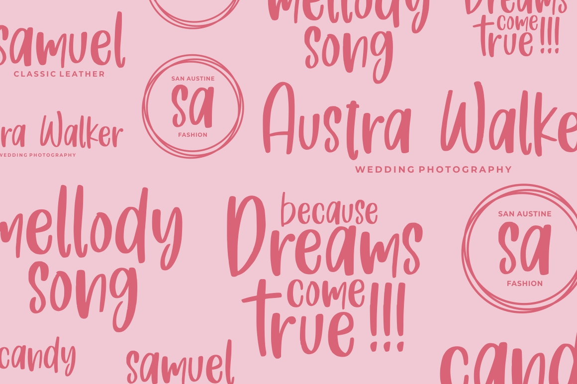 Fresh Love | Handdrawn Font example image 5