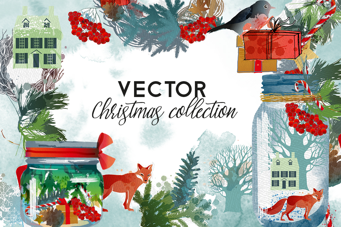 Vector christmas collection example image 1