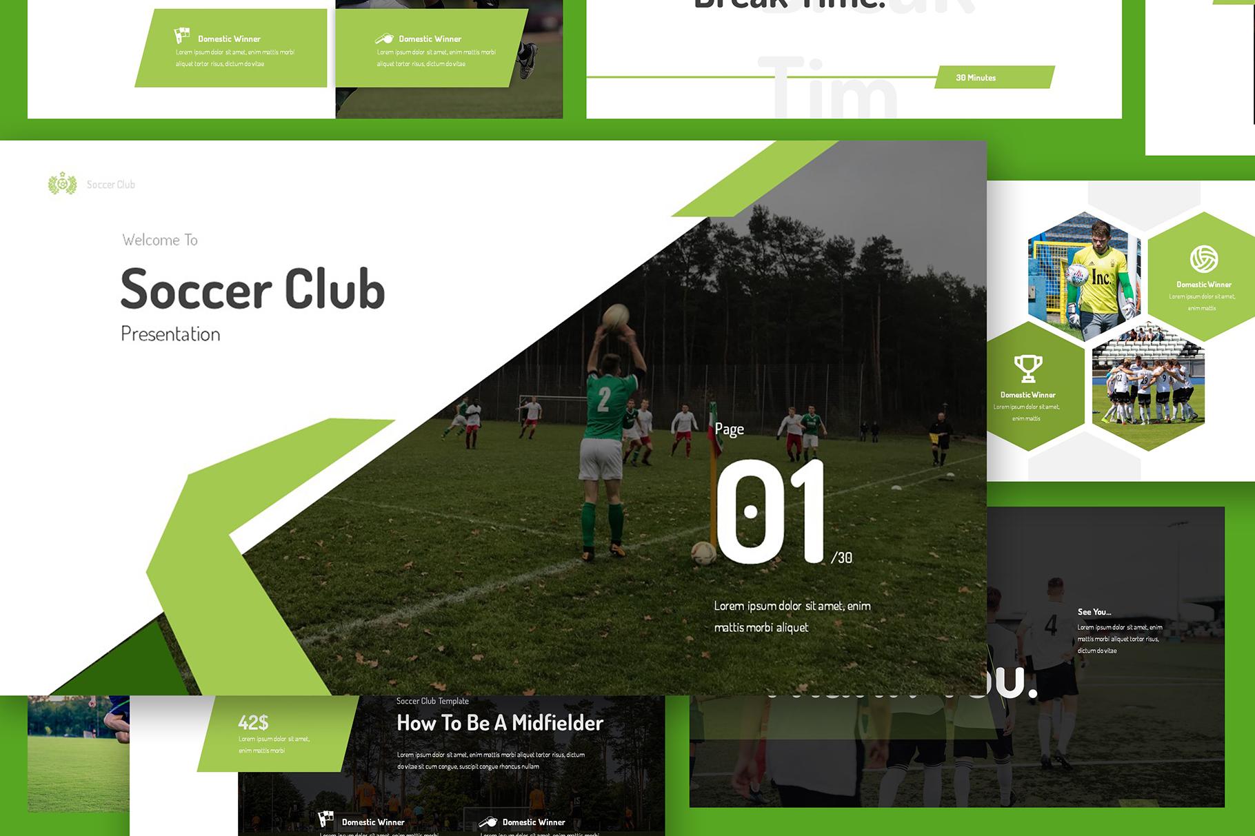 Soccer Club Keynote Presentation example image 4