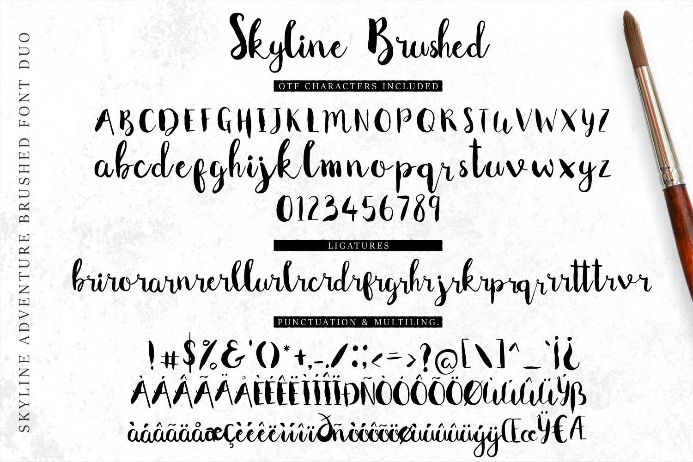 Font Duo Skyline Adventure example image 4