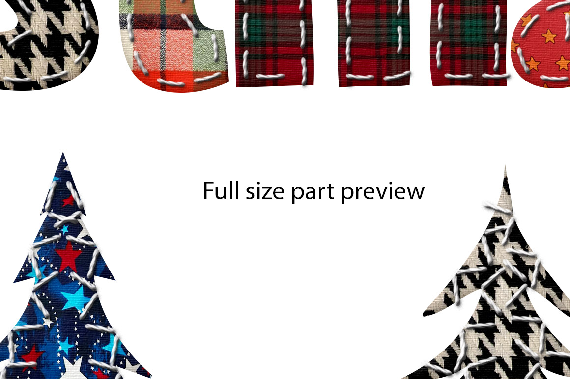 Patchwork Merry Christmas Sublimation example image 2