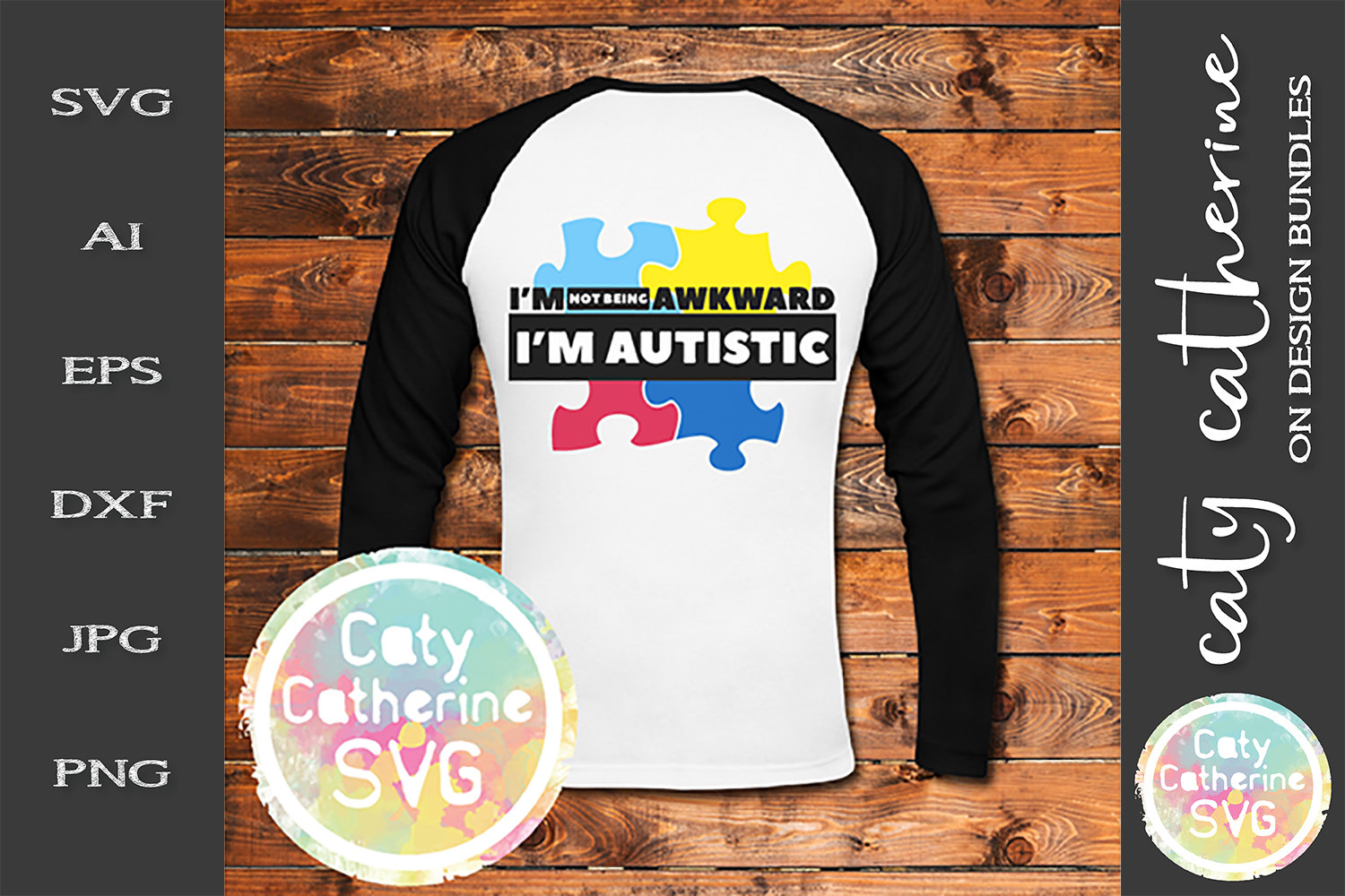I'm Not Awkward I'm Autistic SVG Autism Awareness Cut File example image 2