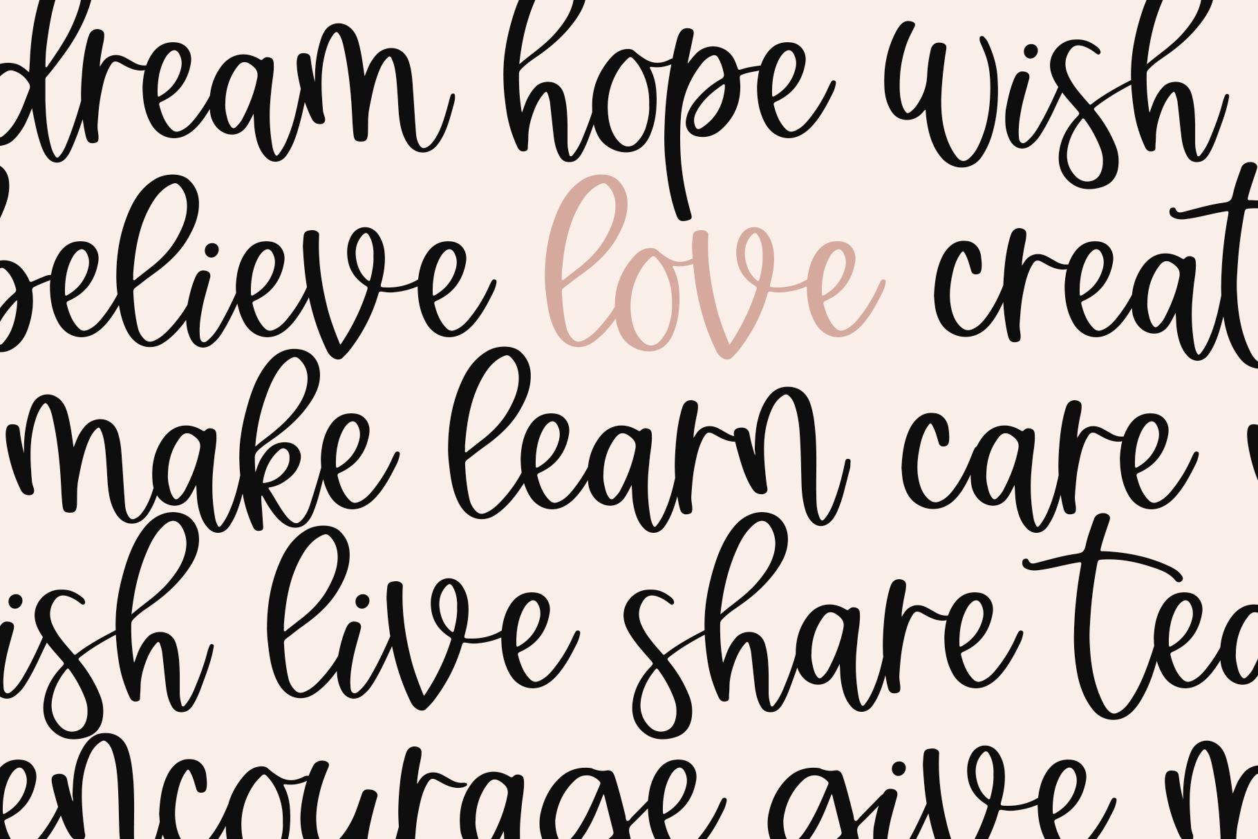 Brightside - A Bouncy Handwritten Script Font example image 3