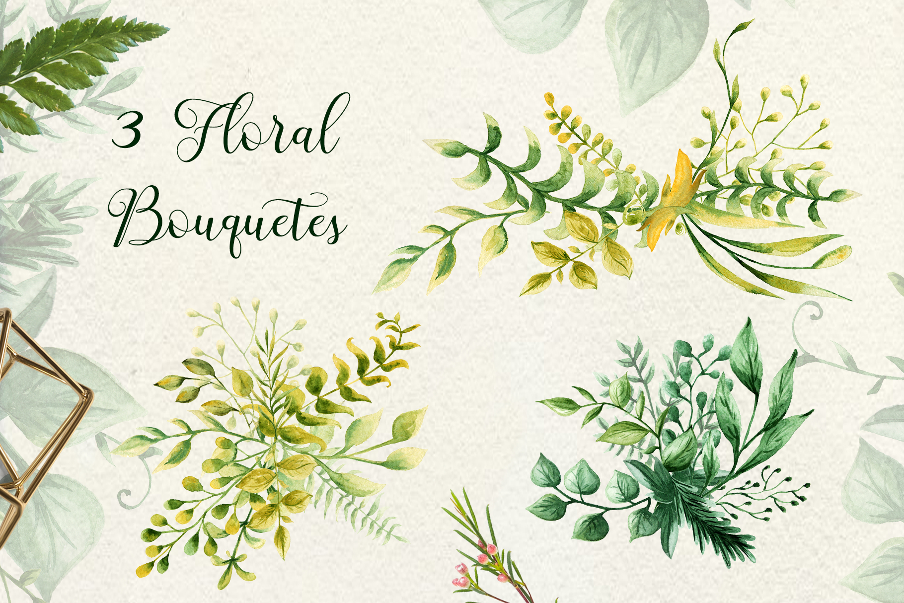 Herbaceous Greens-watercolor set example image 5