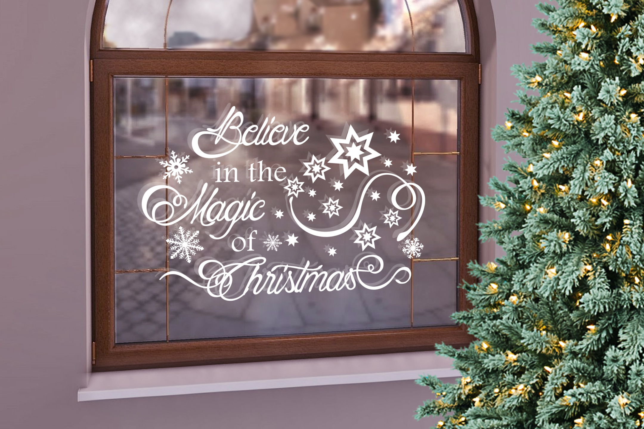 Christmas svg Believe in the magic of Christmas Winter svg example image 2