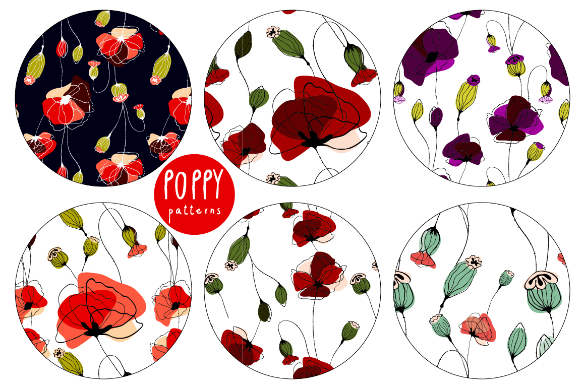 Poppy. Elements & Pattern Swatches example image 2