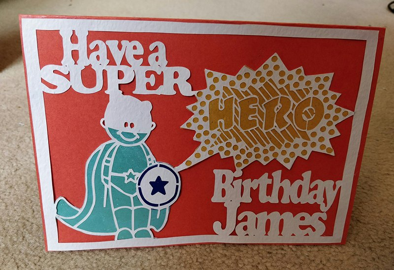 Have a Super HERO birthday papercutting templates example image 2