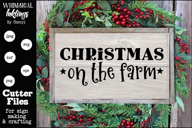Christmas On The Farm SVG example image 1