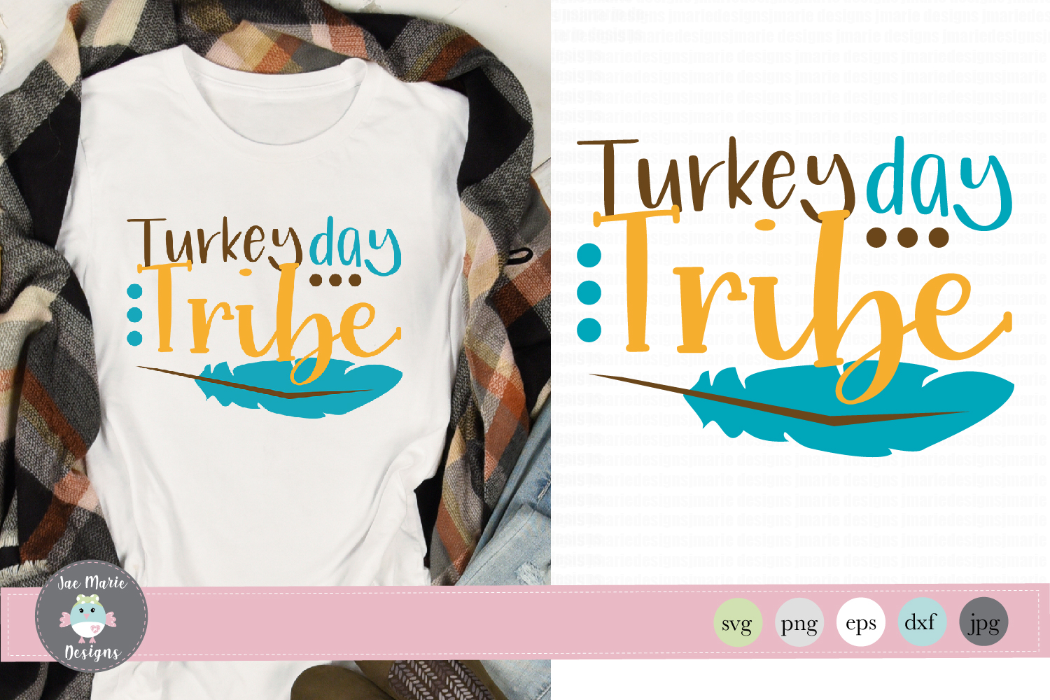 Turkey Day Tribe svg, thanksgiving svg, fall sublimation example image 1