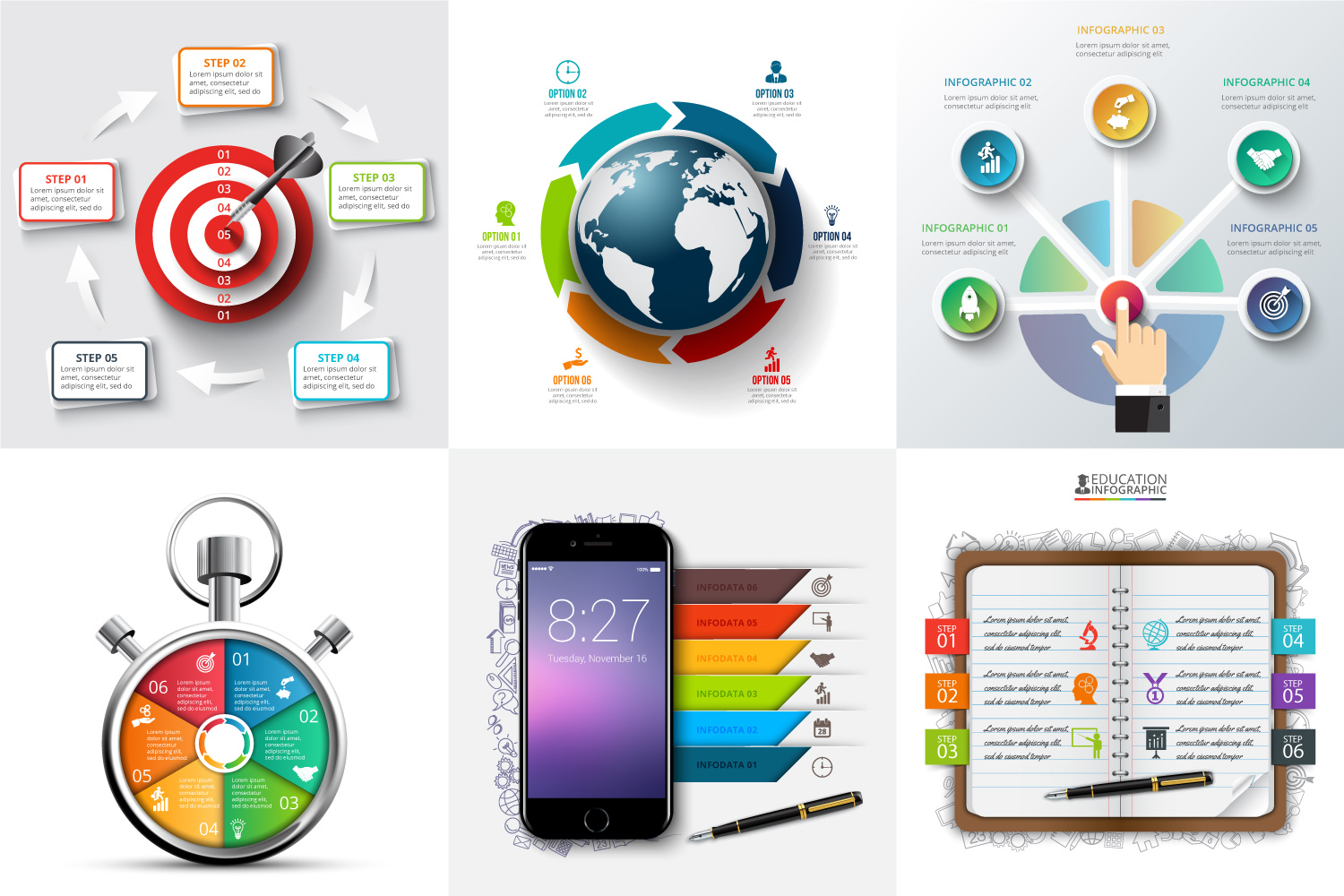 30 business infographic templates example image 3