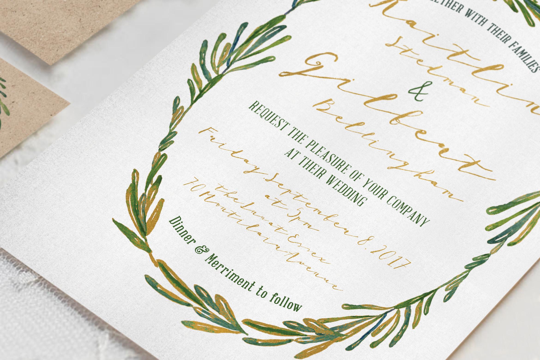 Elegant Wreath Wedding Invitation Suite example image 1