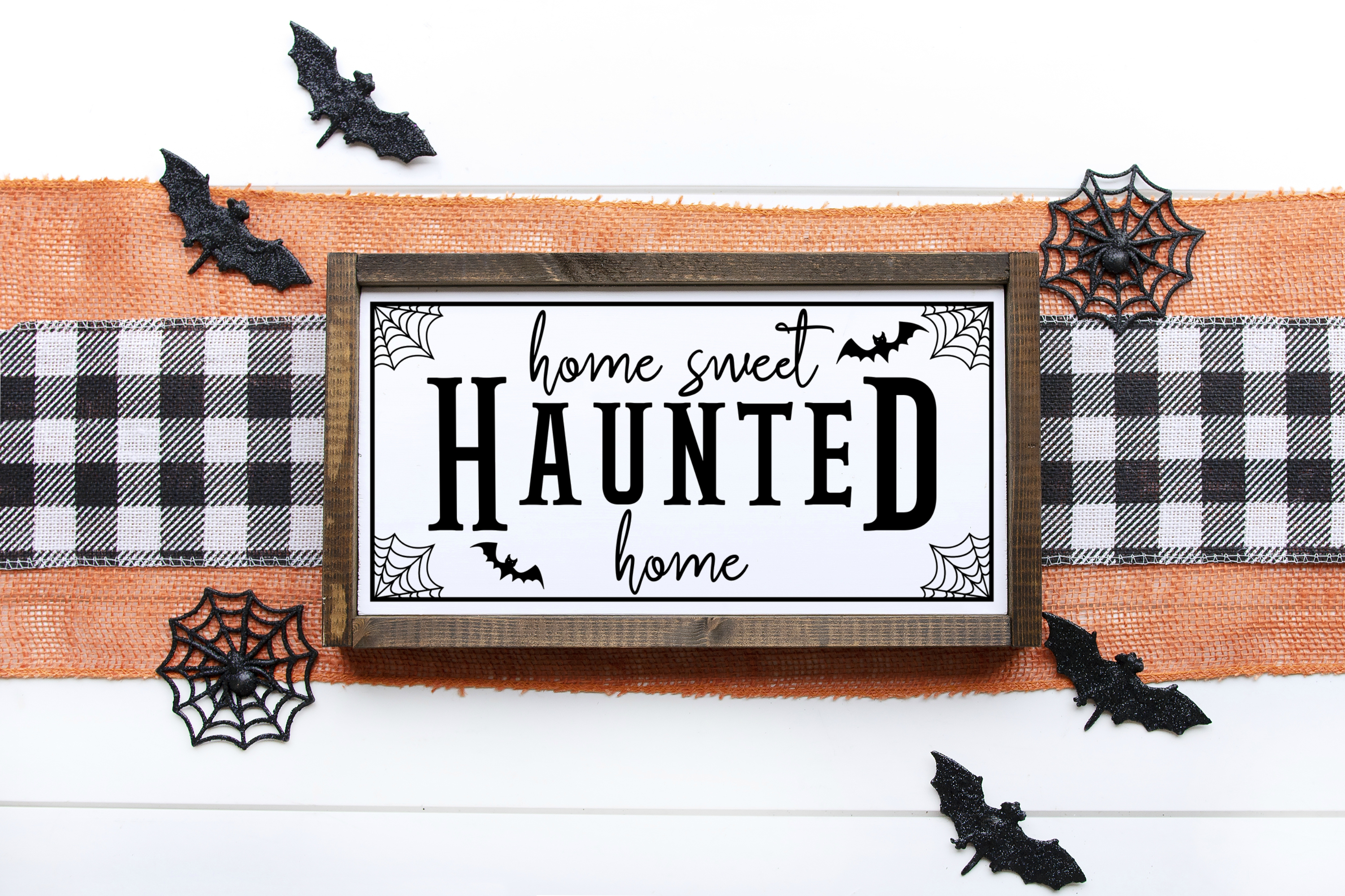 Home Sweet Haunted Home Halloween SVG Digital Cut File Sign example image 3