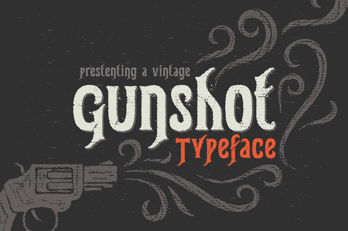 Gunshot typeface example image 1