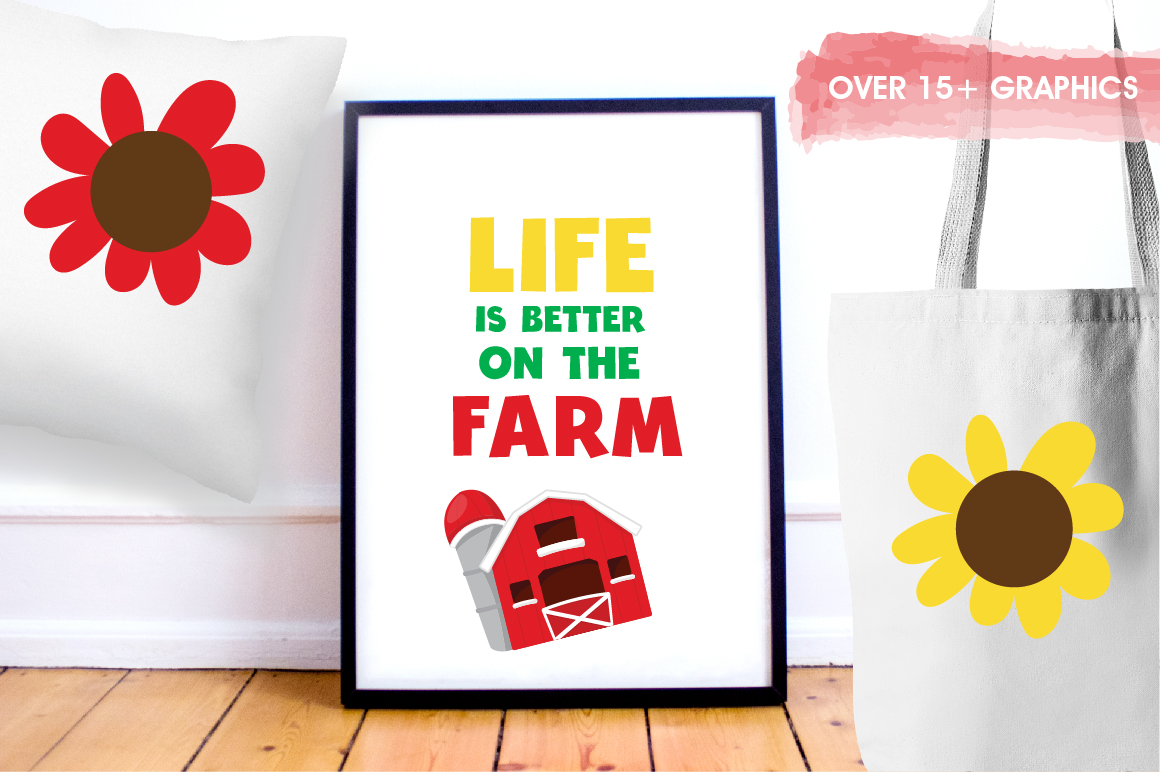 Farm Friends graphics and illustrations example image 5