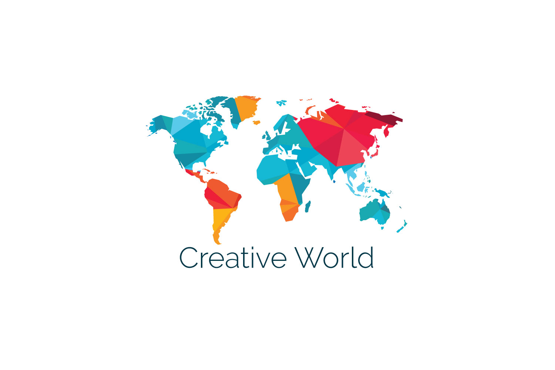 Creative World Map Vector Design. on