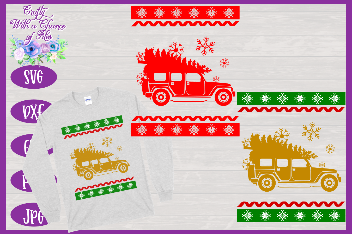 Christmas SVG - Ugly Sweater Party Shirt Design example image 1