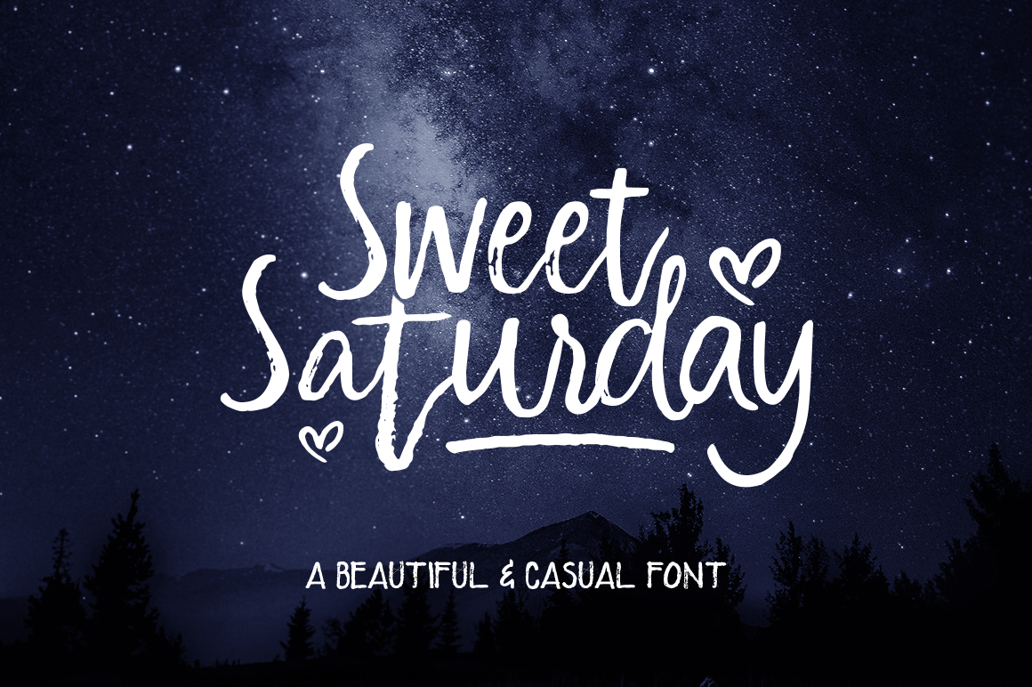 Sweet Saturday Font example image 1