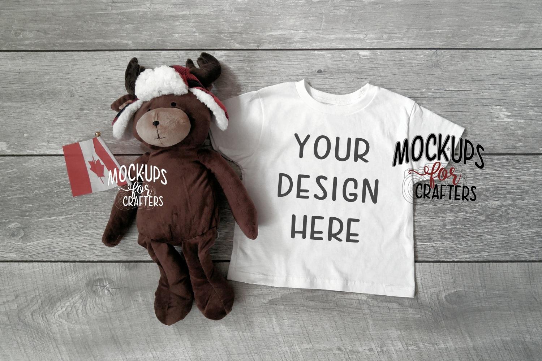 Child's TShirt Mock-up - Unisex - Canadian theme - moose example image 1