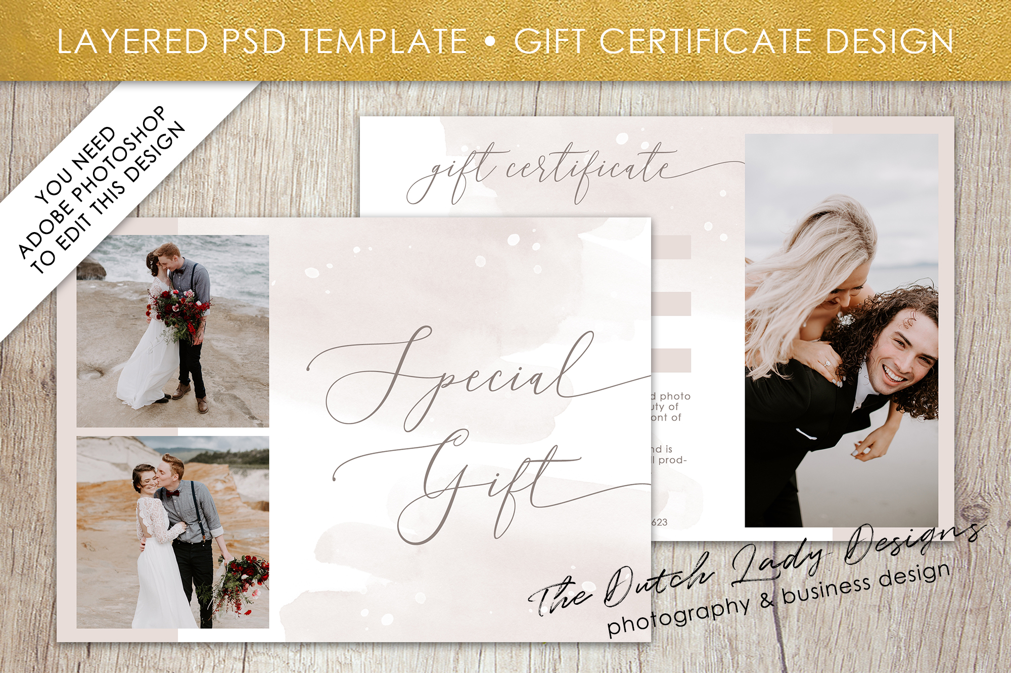photo gift card template for adobe photoshop layered psd template design 47 example